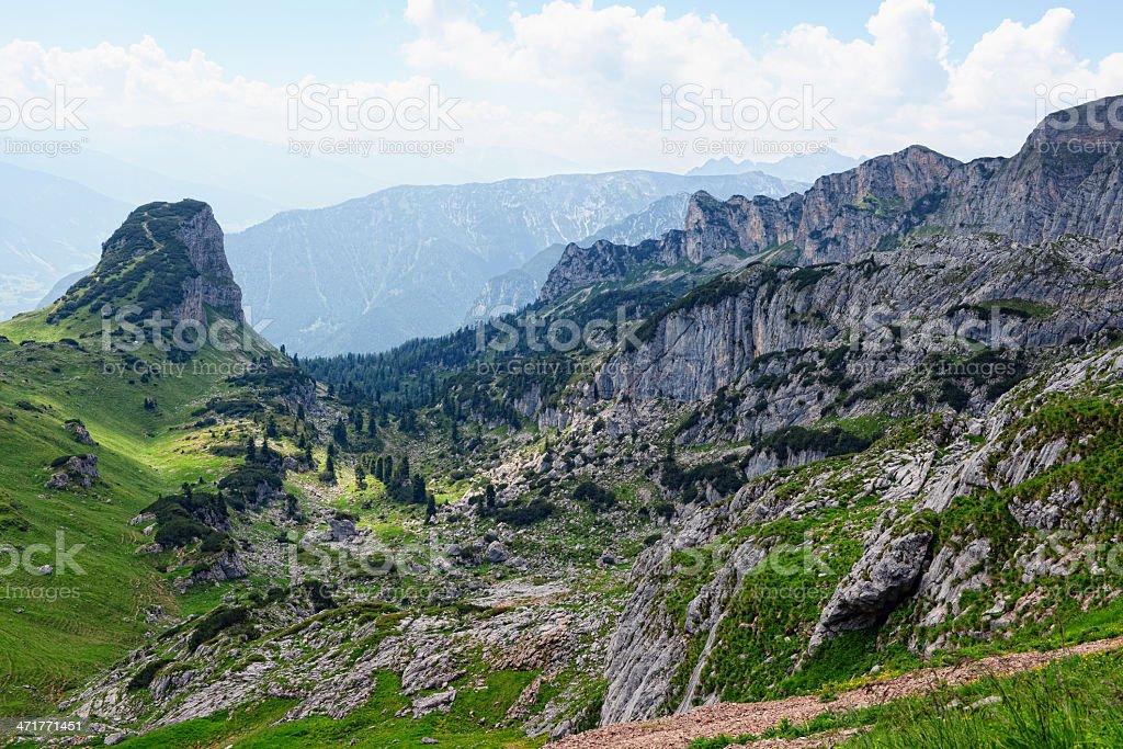 Rofan valley at Karwendel Mountains in european alps royalty-free stock photo