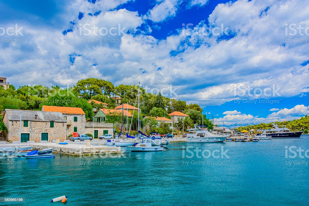 Rogac summer seascape Croatia. - Photo