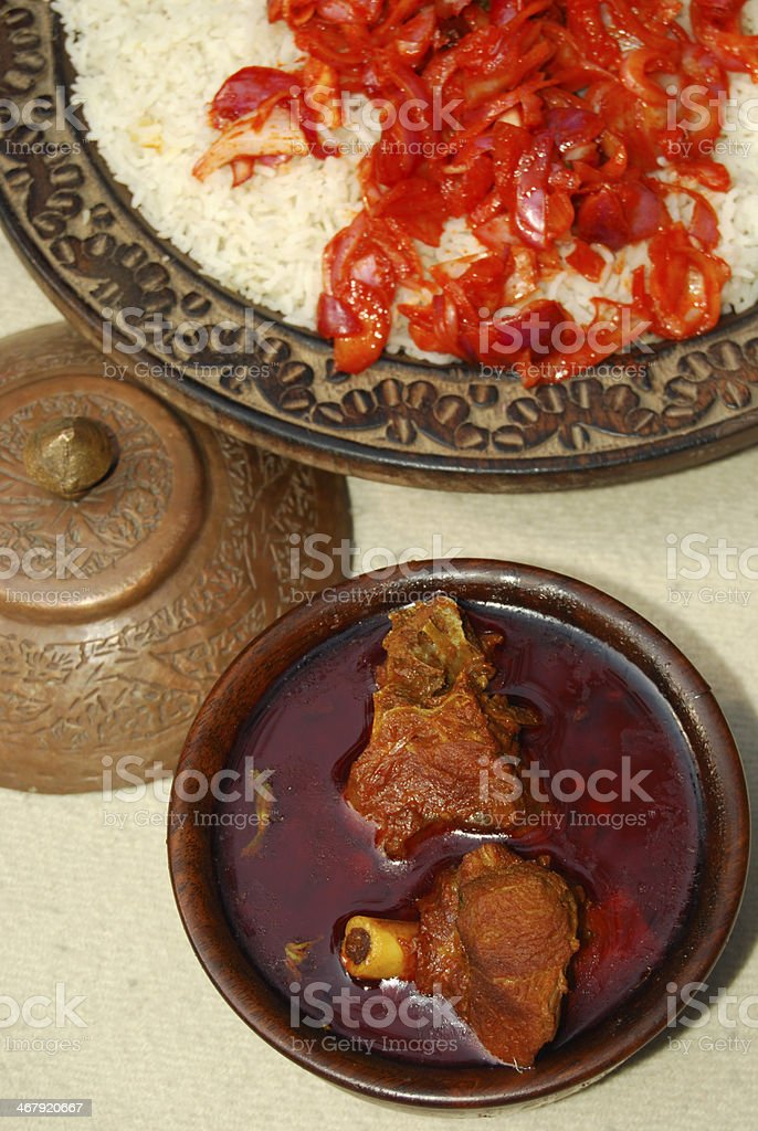 Rogan josh is a curry made of lamb or goat stock photo