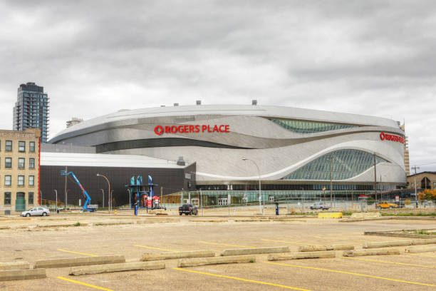 Rogers Center, home to NHL Edmonton Oilers stock photo