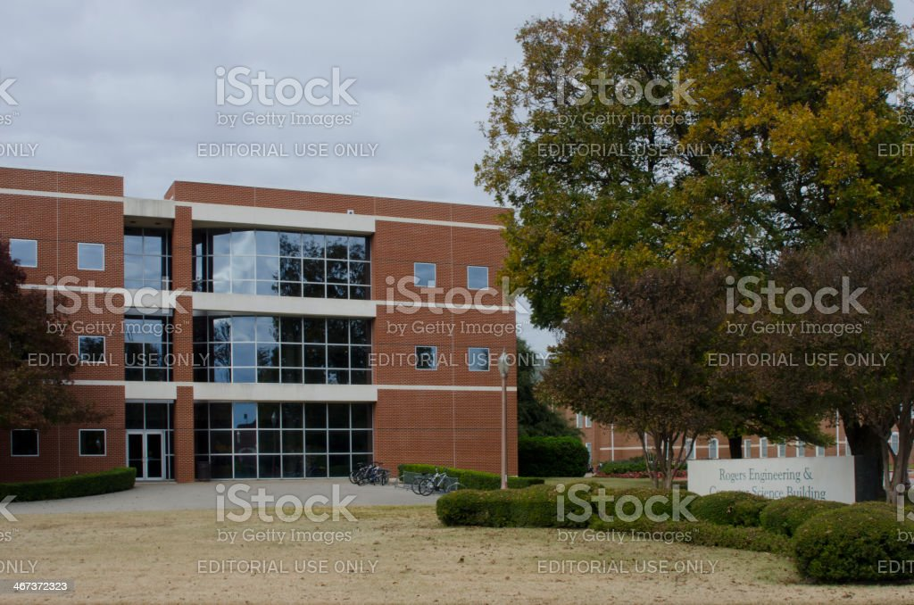 Rogers Engineering Building at Baylor University stock photo