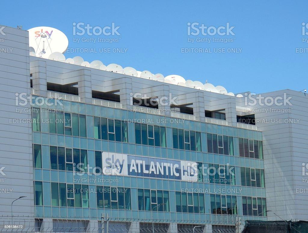 Rogoredo - Sede della Sky Italia stock photo