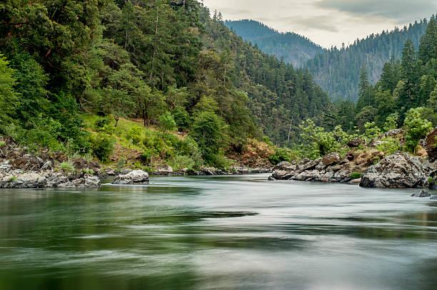 Rogue River, Dawn, Wild and Scenic Corridor, Oregon stock photo