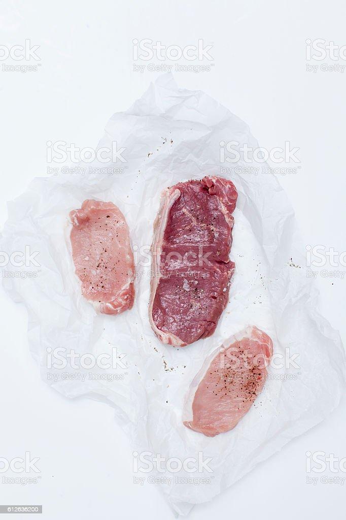 rohes fleisch stock photo