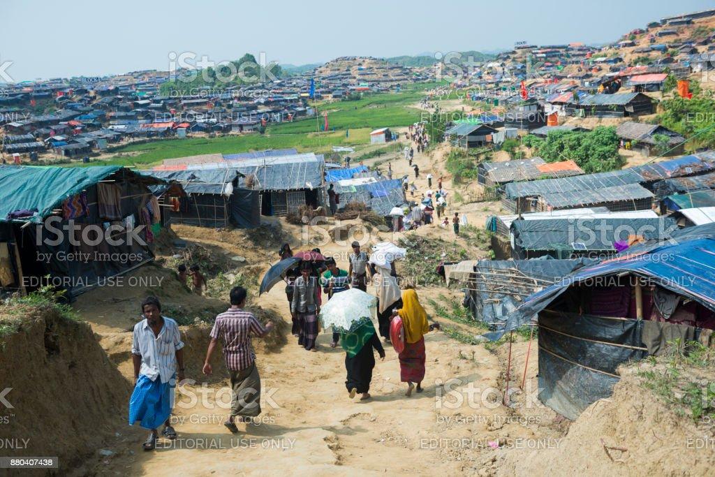 Rohingya-Gehäuse im Flüchtlingslager Jamtoli – Foto