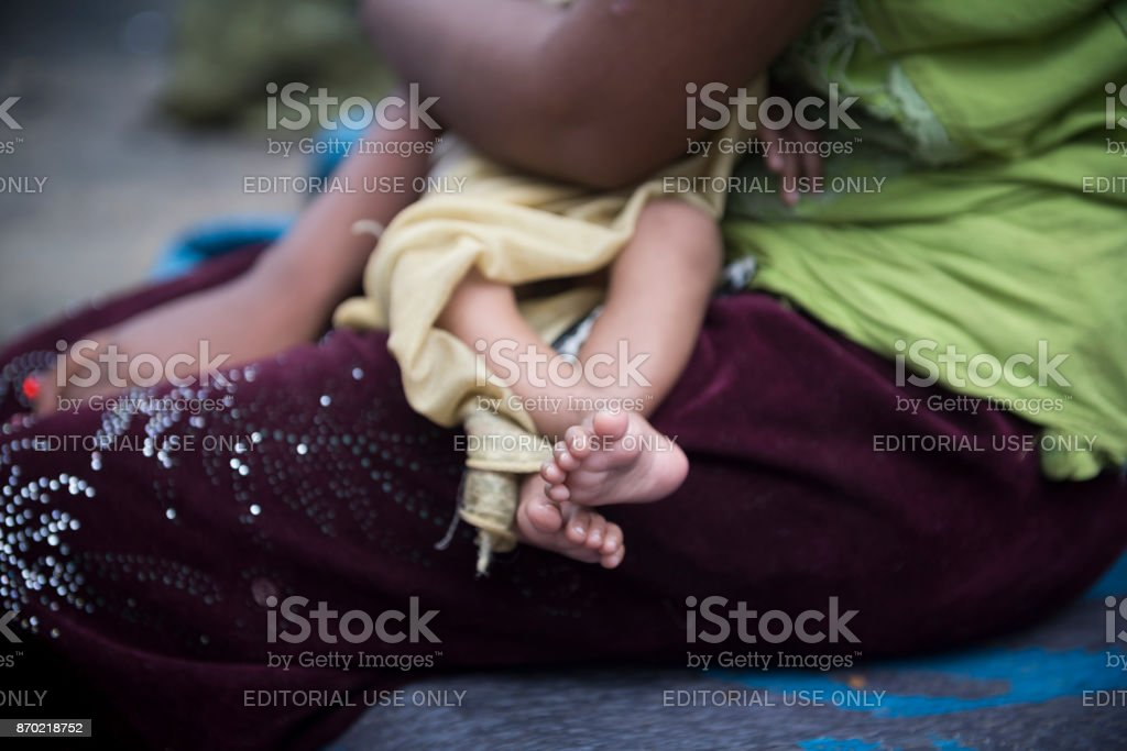 Rohingya-Mutter und baby – Foto