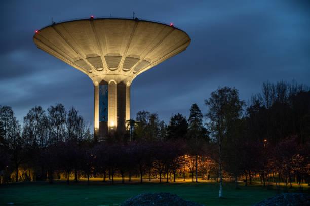 Roihuvuori water tower stock photo