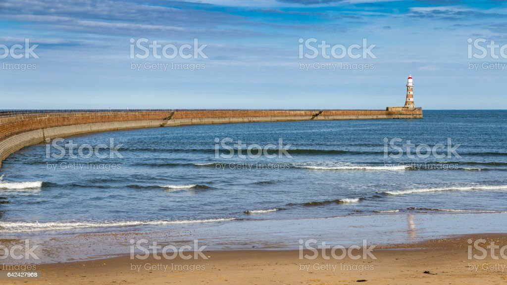 Roker Beach, Sunderland, Tyne and Wear, UK stock photo