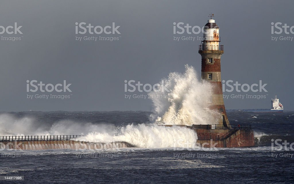 Roker Lighthouse stock photo