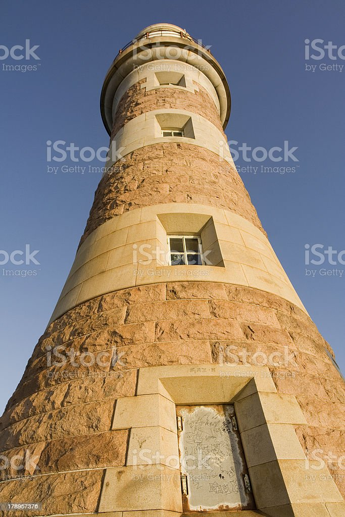 Roker Lighthouse, Sunderland stock photo