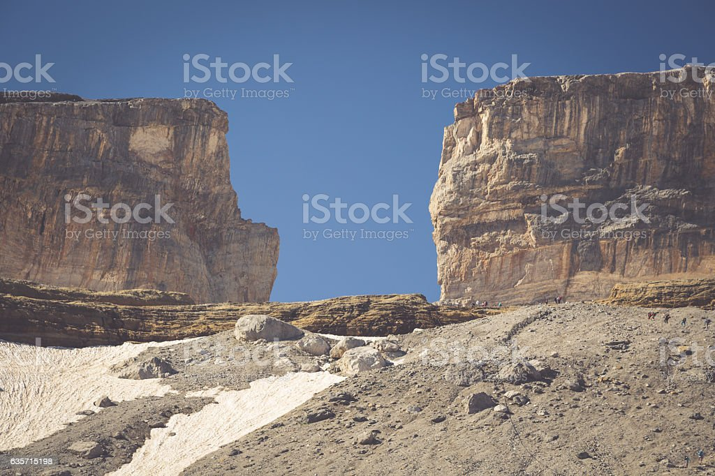 Roland Gap, Cirque de Gavarnie in the Pyrenees royalty-free stock photo