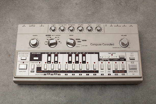 Roland TB-303 bass-line synthesizer  synthesizer stock pictures, royalty-free photos & images