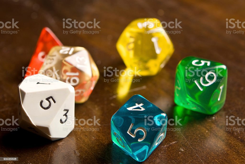 Role Play dice royalty-free stock photo