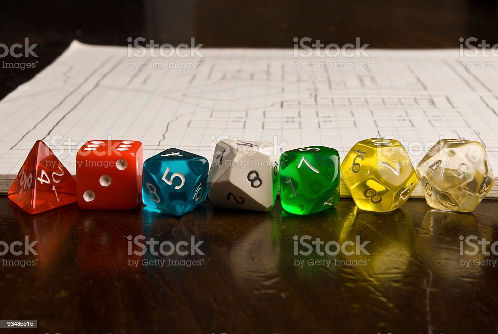 Role Play Game Items royalty-free stock photo