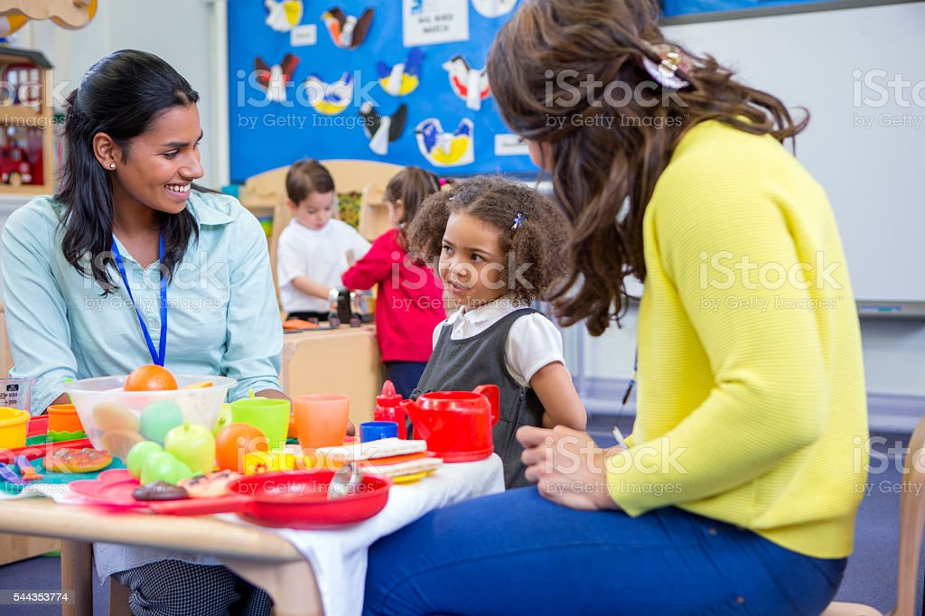 Roleplay Kitchen at Nursery stock photo