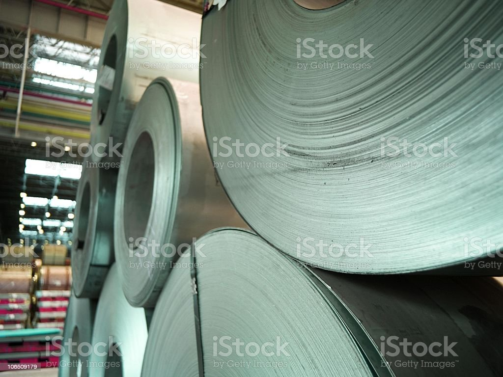 roles of steel royalty-free stock photo
