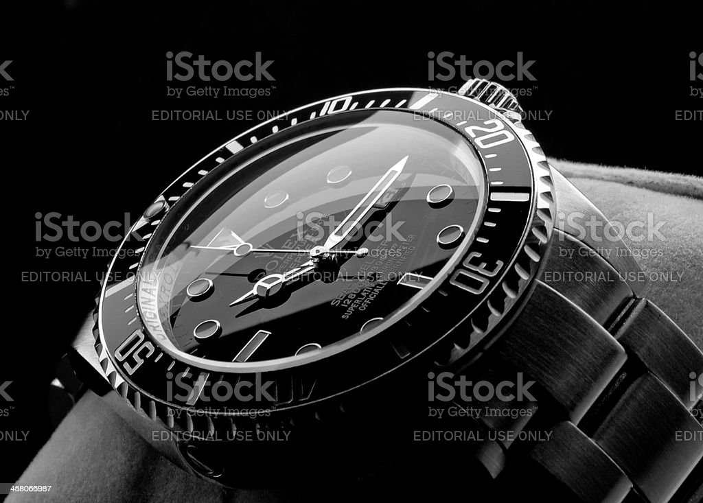 Rolex Deepsea wristwatch stock photo
