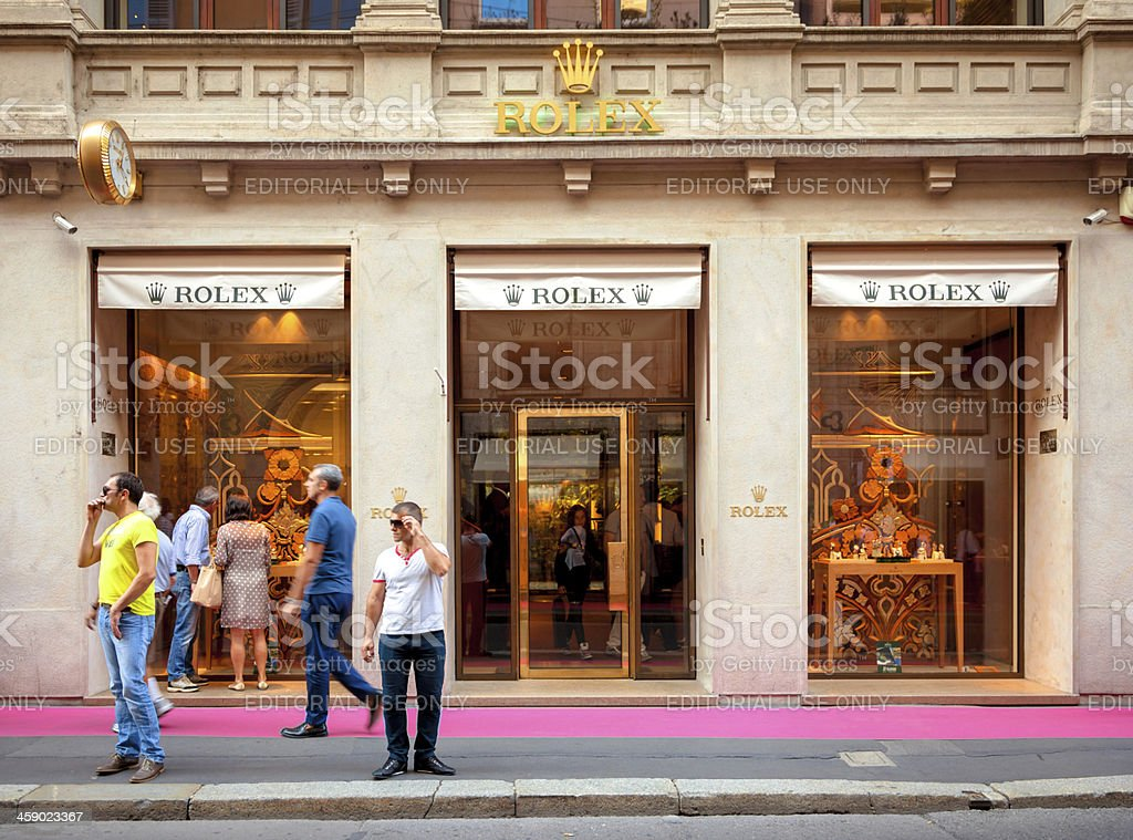 Rolex Flagship Store - Milan, Italy stock photo