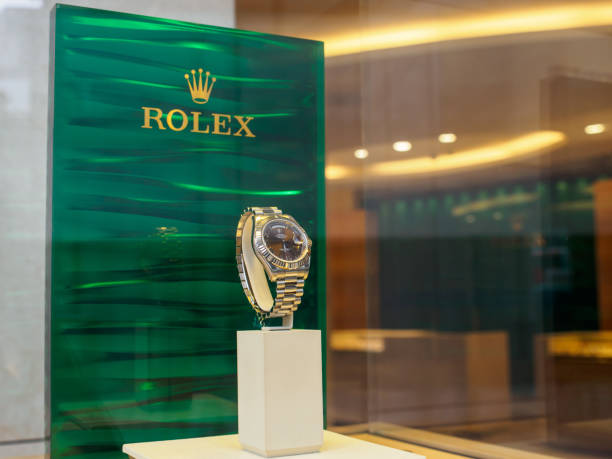 Rolex white gold Day-Date watch, London, England stock photo
