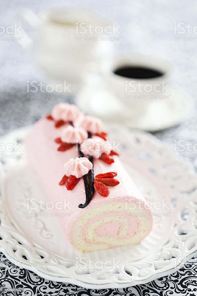 Roll cake royalty-free stock photo