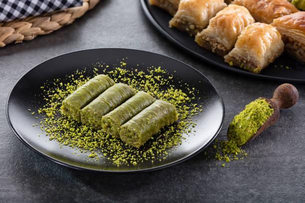 Roll dessert avec pistache - Photo