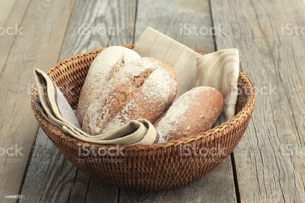 Roll of bread royalty-free stock photo