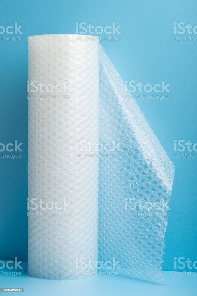 Roll of bubble wrap stock photo