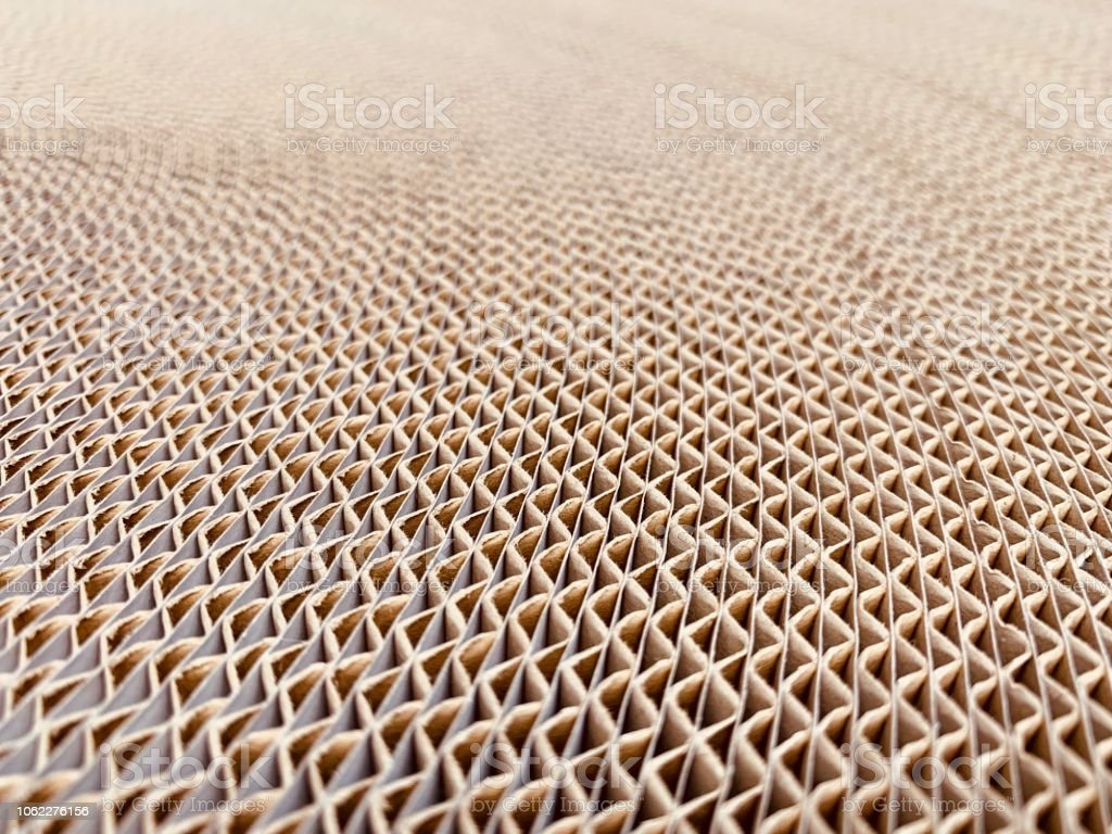 Roll Of Corrugated Cardboard Stock Photo - Download Image