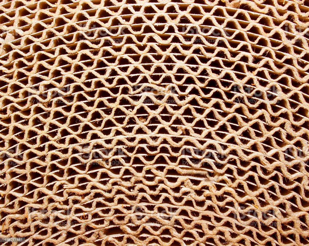 Roll of corrugated cardboard stock photo