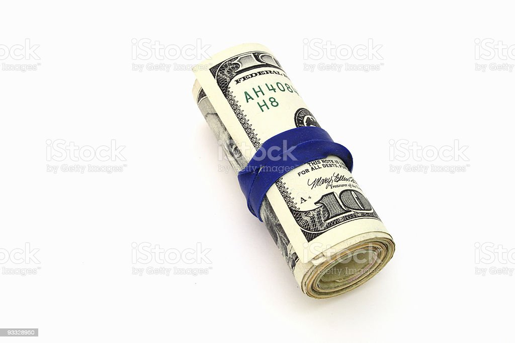 roll of dollars royalty-free stock photo