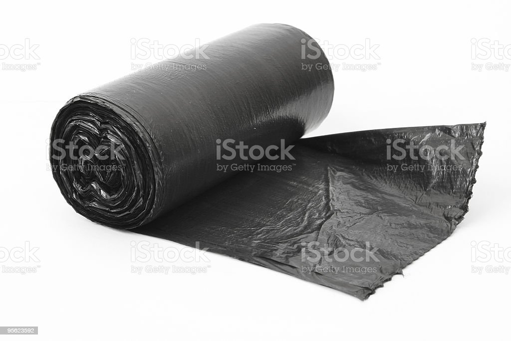 roll of dustbin liners stock photo