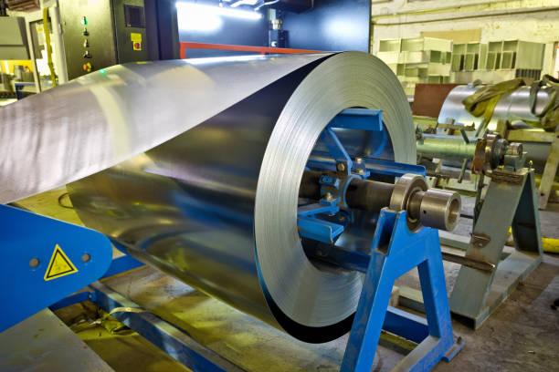 아연 도금 강판 제조 금속 파이프 및 튜브 공장에 대 한 롤 - 제조 공장 뉴스 사진 이미지