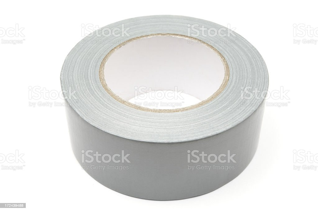 Roll of Gray Duct Tape royalty-free stock photo