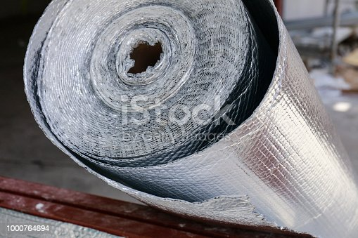 Roll of insulation wool for construction