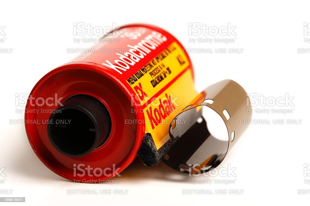 Roll of Kodachrome 200 royalty-free stock photo