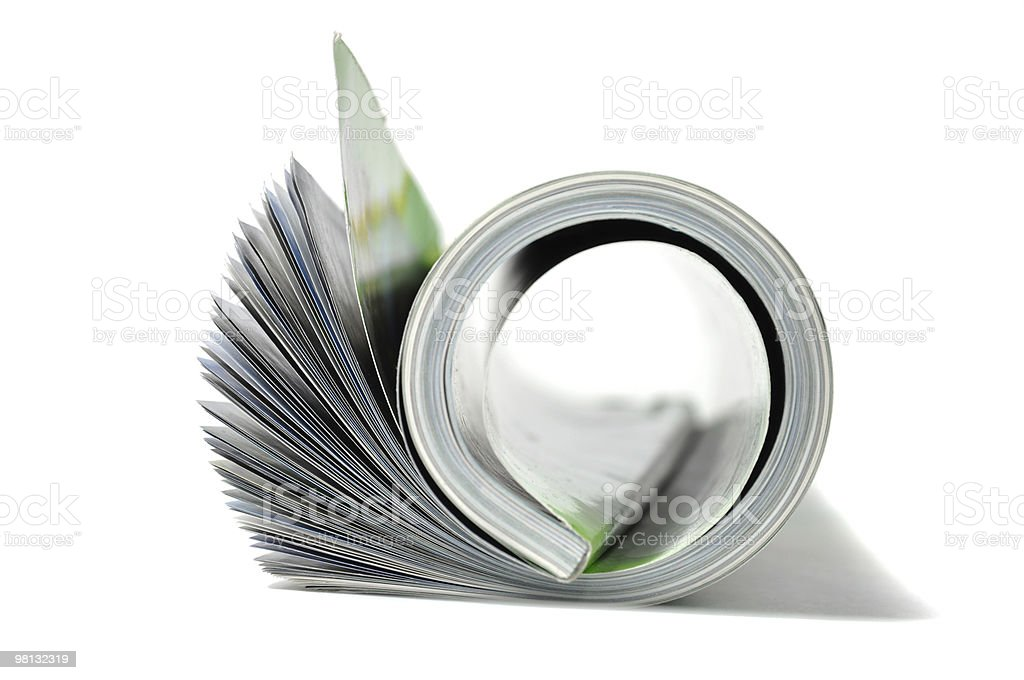 Roll of magazine royalty-free stock photo