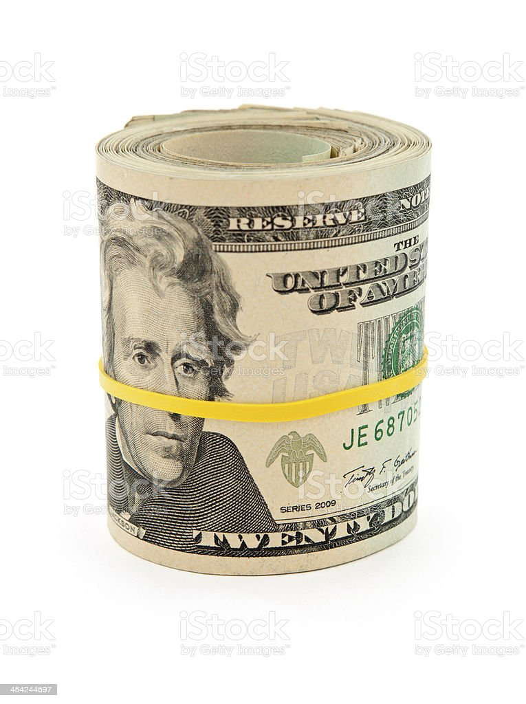 Roll of Money royalty-free stock photo