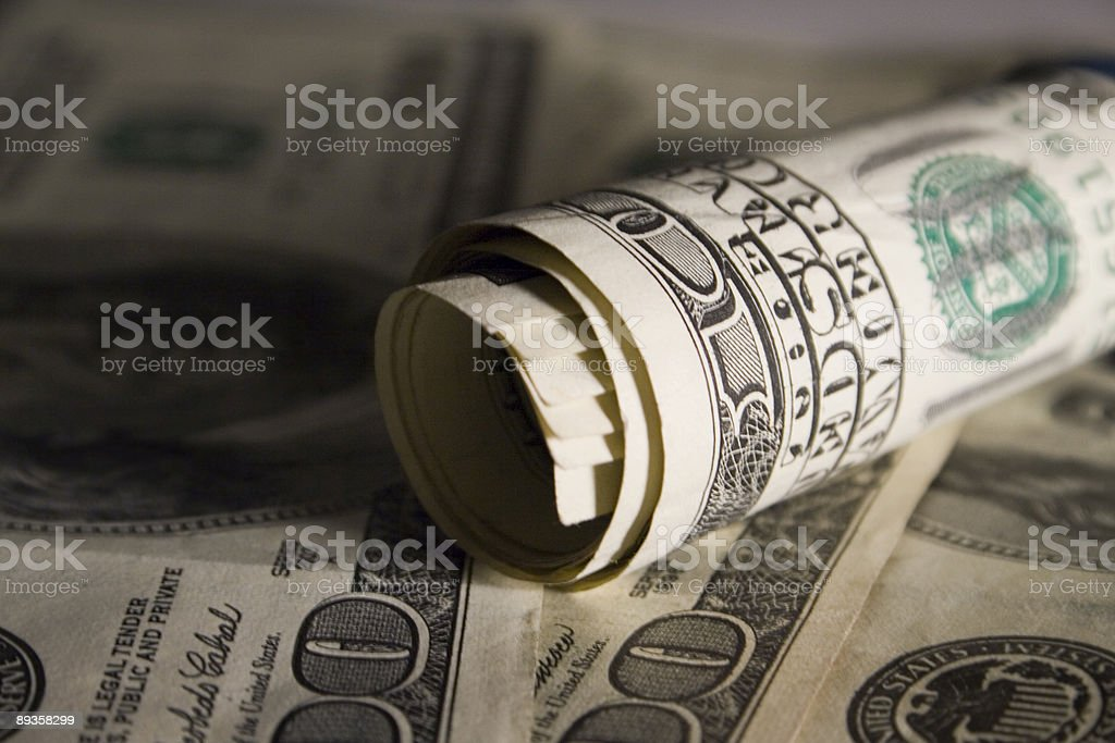 Rotolo di soldi foto stock royalty-free