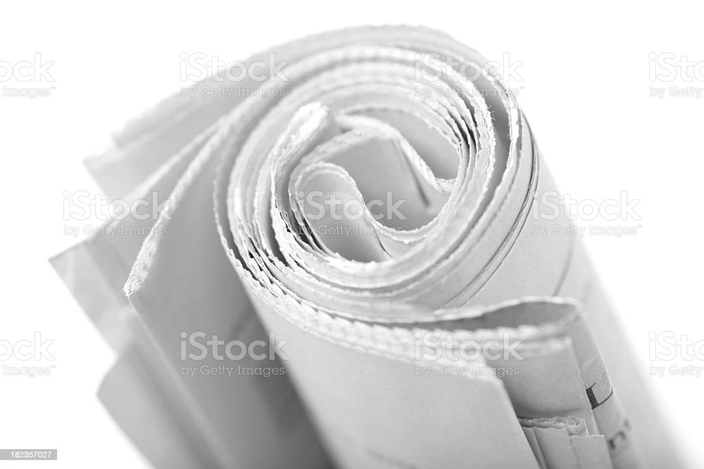 Roll of newspaper. royalty-free stock photo