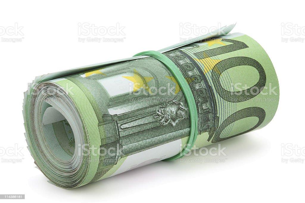 Rolle von Hundert euro-Banknoten verbietet. – Foto