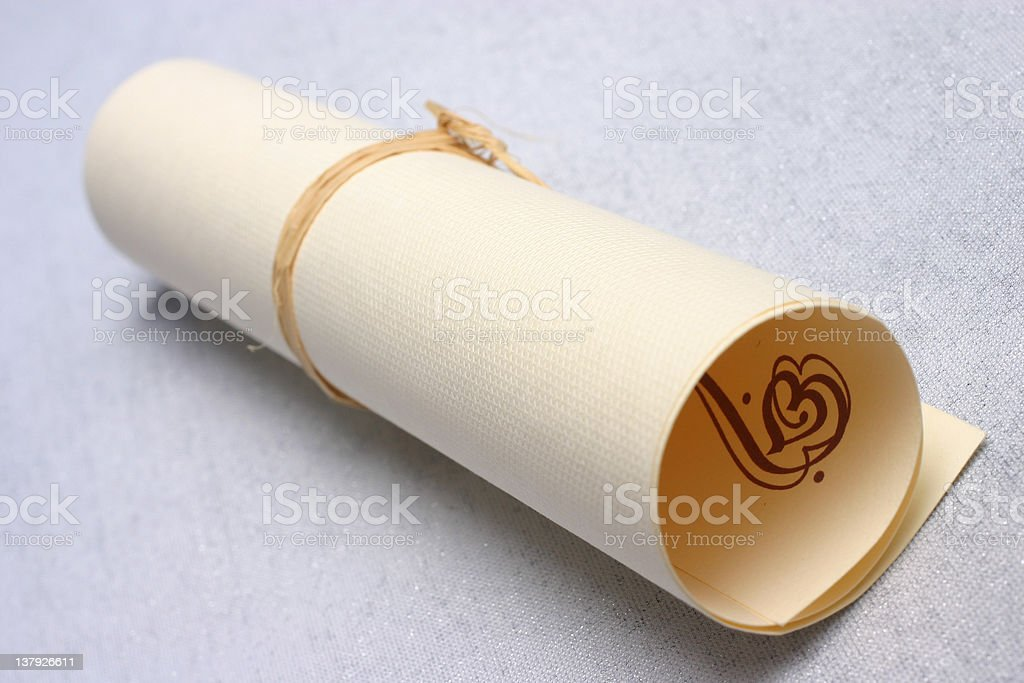 Roll of paper stock photo