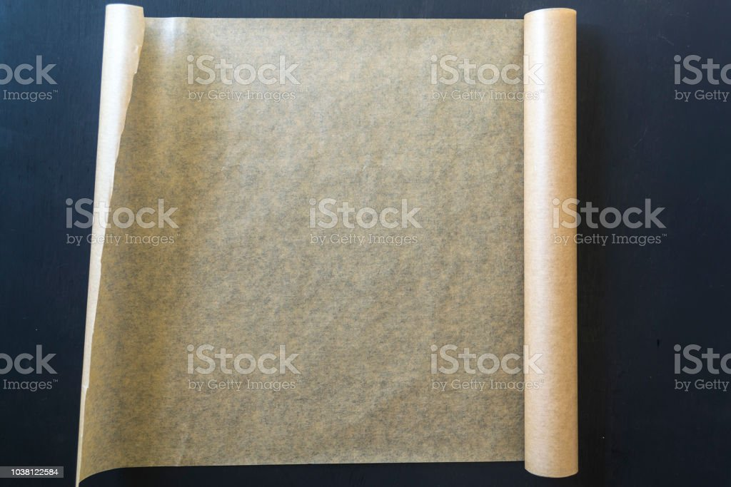 Roll of parchment paper for baking.