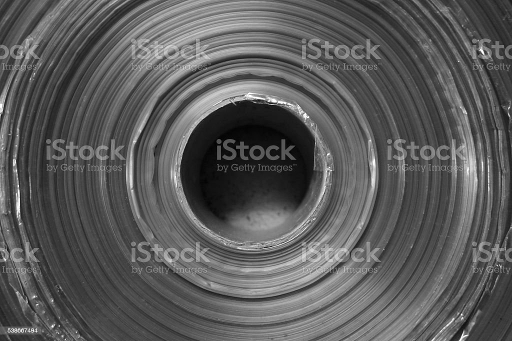 roll of plastic sheet stock photo