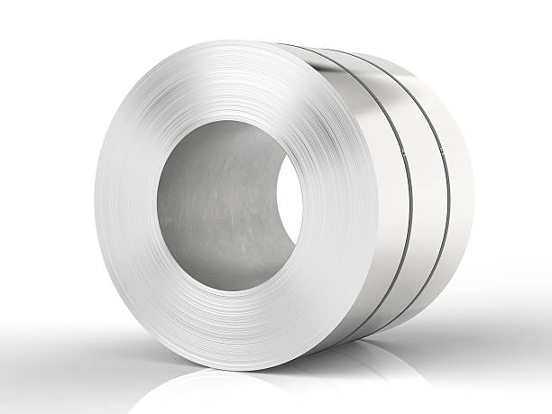 roll of steel sheet stock photo