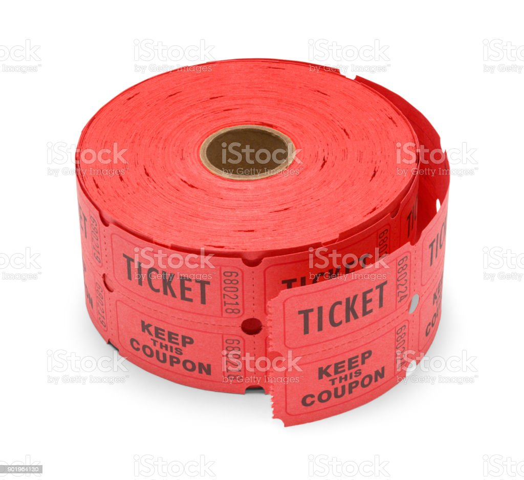 Roll of Tickets stock photo