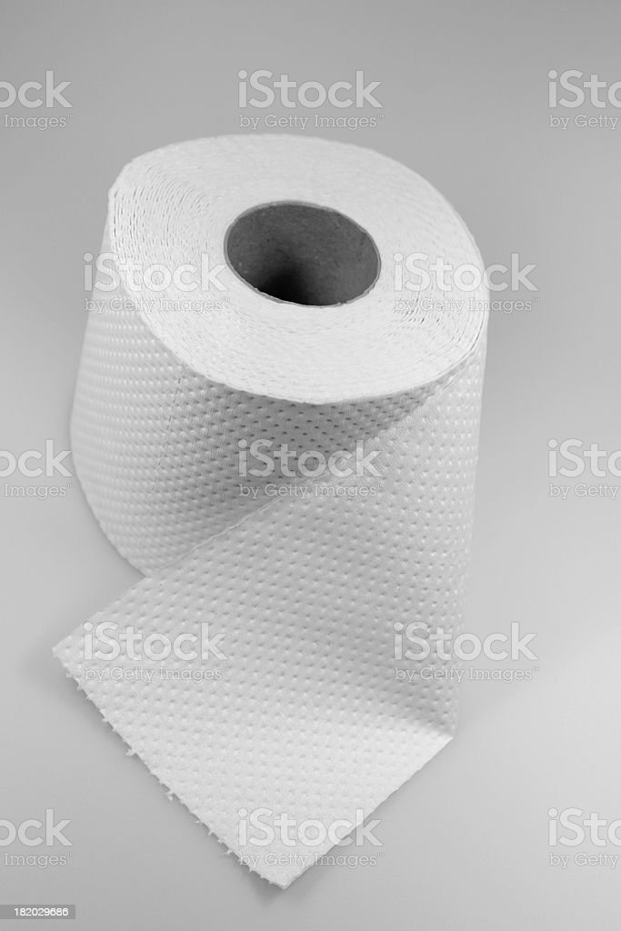 Roll of toilet paper royalty-free stock photo
