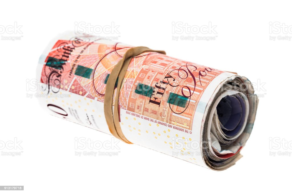 Rouleau de billets de banque UK - Photo