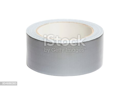 805500886 istock photo Roll of white adhesive tape 504686383