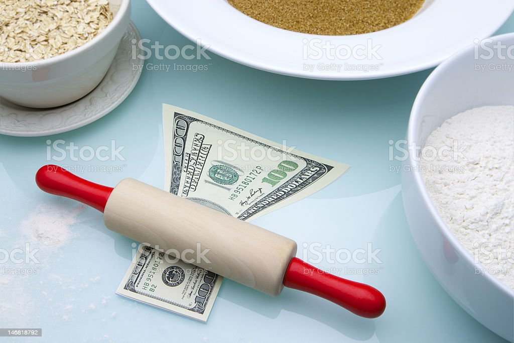 Roll out the dough royalty-free stock photo