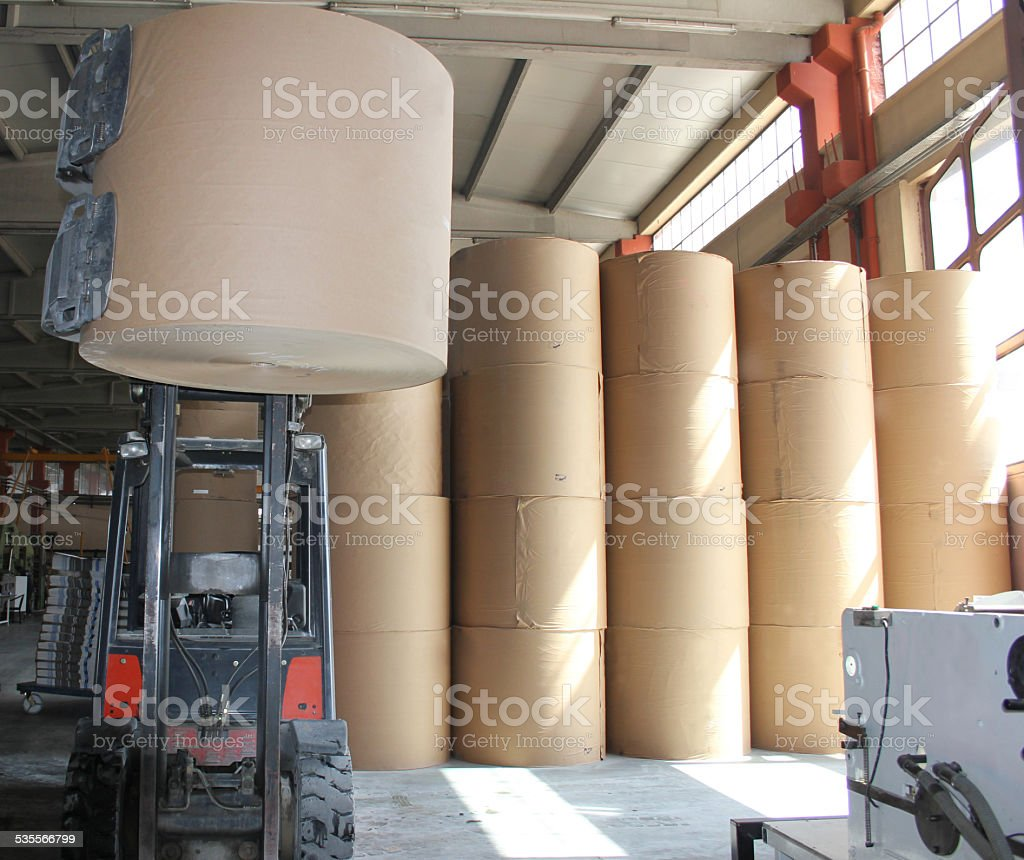 Roll Paper stock photo